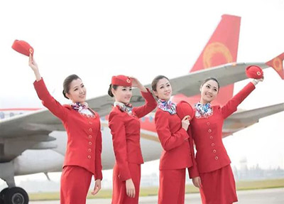 部分在成都航空公司工作的学生