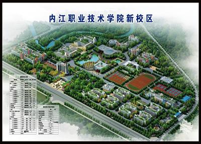 学院新校区鸟瞰图